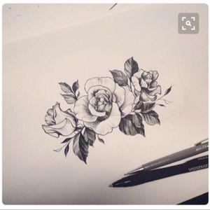 #megandreamtattoo #floraltattoo #sleeveinspo #floralsleeve #rosetattoo