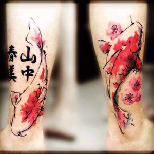 #koifishtattoo #watercolor#tattoorana #alextakahashi #koifish