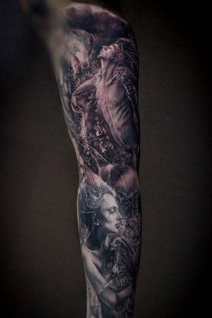 For more of my tattoos, check out www.instagram.com/bacanubogdan or www.Facebook.com/bacanu.bogdan.7 #BacanuBogdan #tattoooftheday #tattoo #blackandgrey #realism #realistic #tattooartist #sleevetattoo #portrait