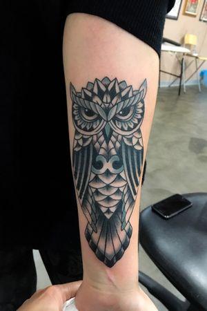 #owl #blackngrey