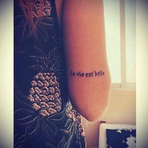 #dreamtatto la vie est belle...life is beautiful