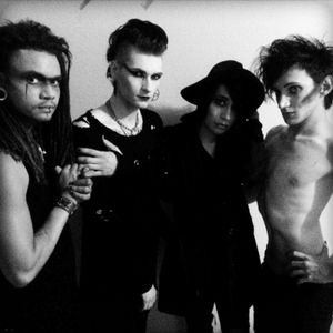 With my bandmates in Dark Altar.