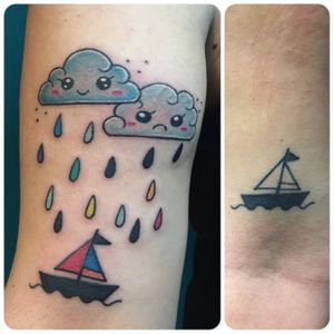Restyling Tattoo❤️ #clouds #cloudstattoo #tattoo #restyling #restylingtattoo #kawaii #kawaiiclouds #love