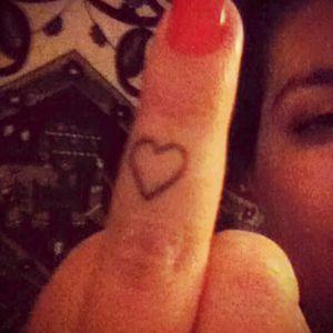 Fuck you love. #fuckyou #love #fingertattoo