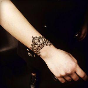 Something to build on #mandala #wristtattoo #armband