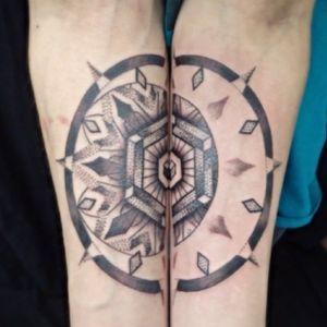 #moonmandala for Justin- thanks Justin! #blackandgreytattoo #geometrictattoo #tattoo #mandalatattoo #tattooartistmagazine #equilattera #bouldertattoo #coloradotattooers