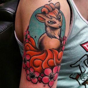 Beautiful Vulpix alternate tattoo #fox #pokemon
