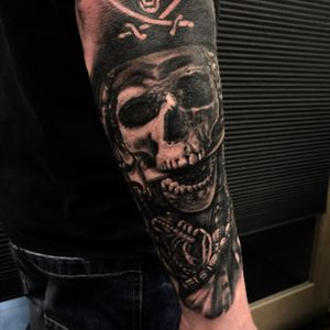 Pirates of carabian tattoo by @jammestattoo