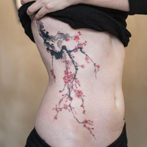 oriental painting style plum blossom :)