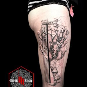 #Origami #tree Tattoo by #DimeReck
