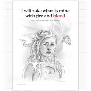 Painting of Daenerys Targaryen / Emilia Clarke from Game Of Thrones. Posters can be purchased here: shop.multiart.no #maleri #painting #galleri #gallery #tegning #drawing #kunst #art #vannfarger #akvarell #watercolor #skisse #sketch #posters #plakat #fineart #illustrasjon #illustration #cartoon #tattoo #portrait #portrett #emiliaclarke #daenerys #popart #fanart #kunstner #artist #nofilter #gameofthrones