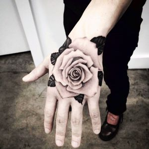 Rose hand #rose #handtattoo #flower