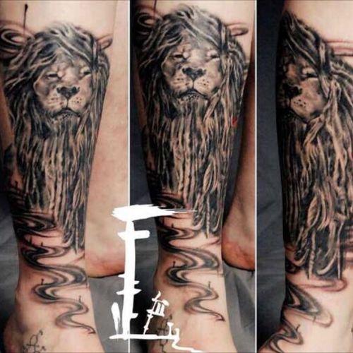 #Dreadlock #Lion inked in #Xian #china