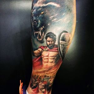#300 #300ofsparta by: Paulo Raphael in Paulo Tattoo Studio.
