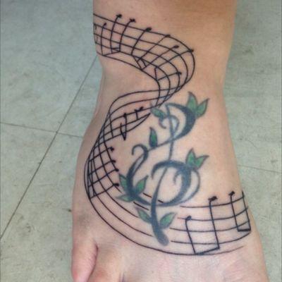 #music #score #trebleclef Treble clef healed, score fresh
