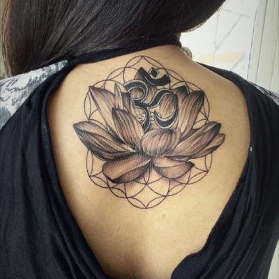 #Lotustattoo #om #lotus