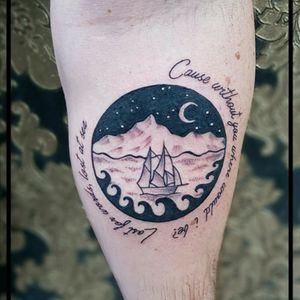 #black #moon #sea #boat #swashdrive