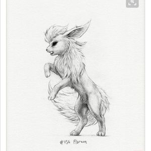 #flareon #sketch. #pokemon #fire #realism #black #pinterest