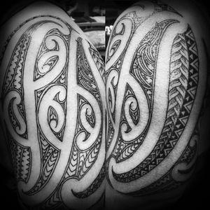 Shoulder sleeve moko #tamoko #maoriAotearoa #maorimoko #maorisleeve #maori