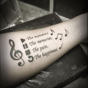 #music #notes #quote #blackink