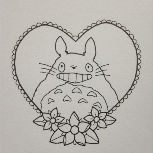 Totoro stencil #totoro #studioghibli #myneighbourtotoro #stencil