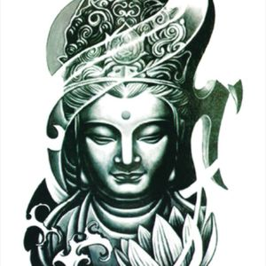 I would love a custom buddha tattoo on my forearm in black and white tones. #megandreamtattoo