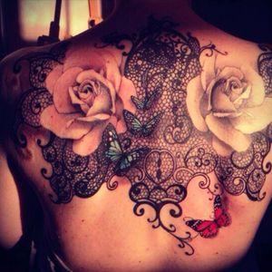 Beautiful! #lace #flowers #rose #mandala #paisley #butterfly