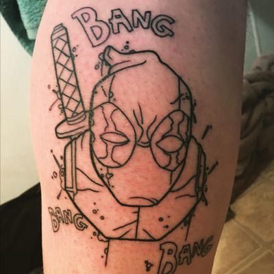 So excited to see this when its done #Deadpool #deadpooltattoo #comics #comicbooks #marvelcomicstattoo #ComicTattoos