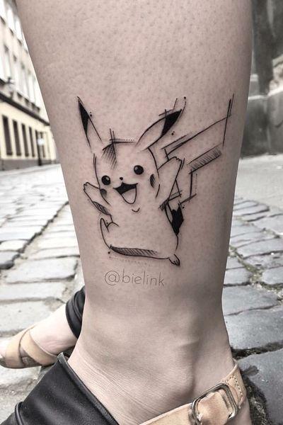#Pikachu #pikachutattoo #pokemon #pokemontattoos #poland #polandtattoos #onlyblack #dark #DarkArt