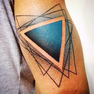 #geometric #shading #blue #dotwork #linework