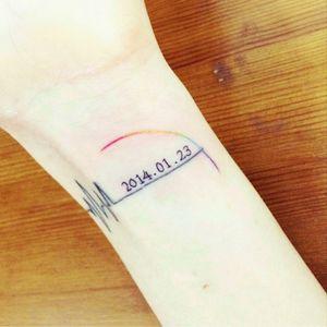 #tattooistdoy #inmemoryof #heartbeat #date