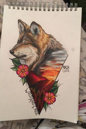 #wolf #realism #colour #ModernTattoos #colouredpencil #sketch #drawing #tattooartist