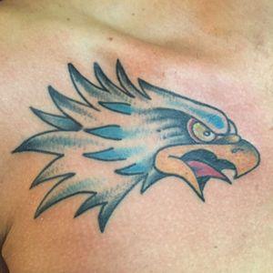 Eagle head. #tattooapprentice #anthonylowtattoos #eagle #traditionaltattoo #sailorjerryflash #tattooflash #americanatattoo #eagletattoo