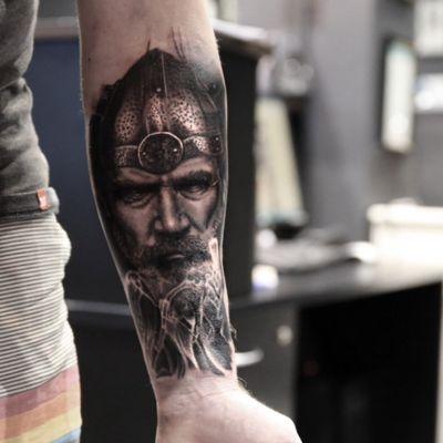 Odin done by Dimitri @thetattootwins #odin #blackamdgrey #brisbane #australia #thetattootwins