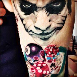 My work in progress #realistictattoo #joker #tattoo #cheyennetattooequipment