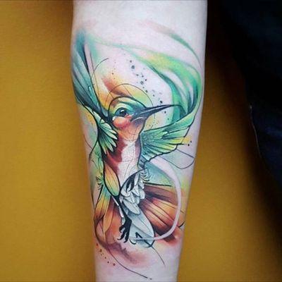 #hummingbird #bird #watercolor #thejorell @thejorell #welove