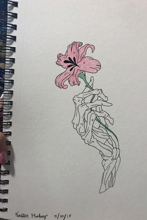 #flowertattoo #skeletontattoo