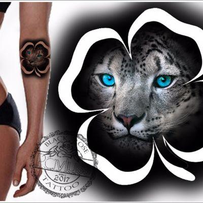 #tattoodesign #leopard #blueeyes #animal