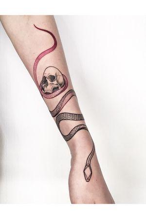 #skull #snake