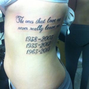My first tattoo ever for the ones I loved and lost!