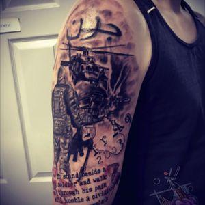 Upper arm army tattoo#riccardomancanelli #tattoo #army #neverforget #ink