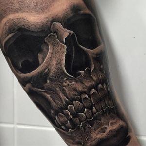 #skull #realistic #forearm #realistic #tattoo