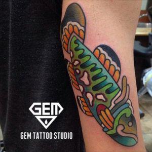 #KTattooing @KTattooing #kaylee @kaylee #gemtattoo #gemtattoostudio #color #welove #rockfish