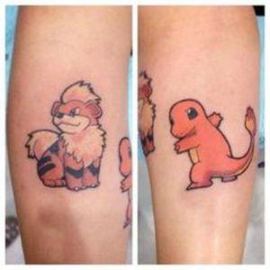Growlithe and Charmander tattoos #fire #pokemon