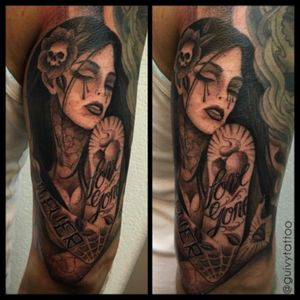 #chicanostattoo #chola #tattooedgirl #chicanostyle #inkedbabe #chola #chicana #blackandgrey #guivy #artforsinners #tattoo #tatouage #geneva #geneve #switzerland
