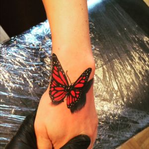 #butterfly3D #3dtattoo #butterflytattoo