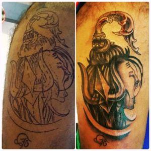 #LordShiva #tattolove #thirdtatto #singapore #HinduTattoos #shivatattoo #ohm