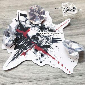 For downloads and commission visit www.skinque.com #trashpolka #skull #realistic #roses #trashpolkatattoo #realistictattoo