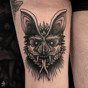iditch@hotmail.fr #iditch #tattoo #mojitotattoo #toulouse #traditionaltattoo #bat #vampire #demon
