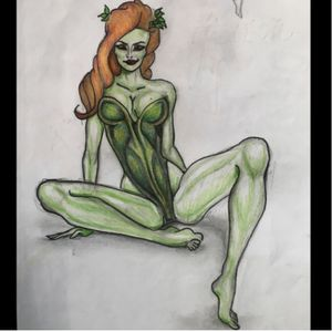 #poison #dcccomics #comic #poisonivy #tattoo #draw #artwork